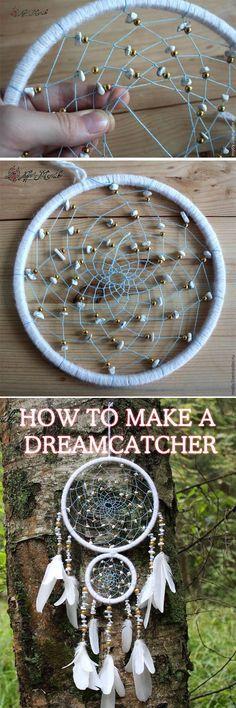 NEW! Dreamcatcher DIY tutorial, step to step indian dreamcatcher https://fastmade.blogspot.com/2016/09/new-step-to-step-dreamcatcher-diy.html