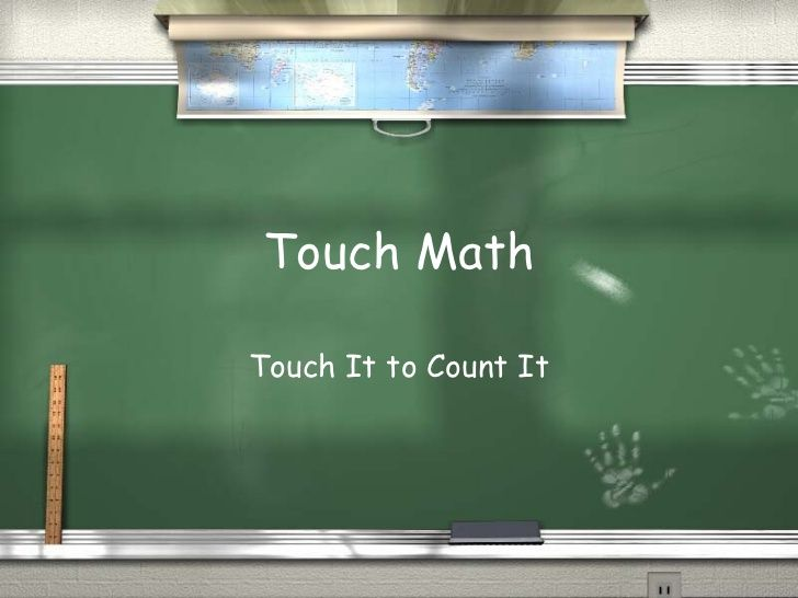 Touch Math---excellent