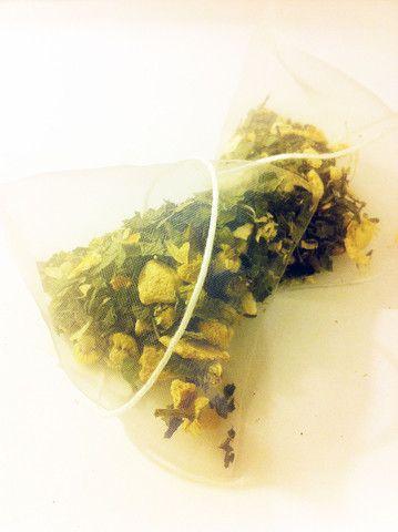 MORNING MAMA - ginger and lemon balm pyramid teabags