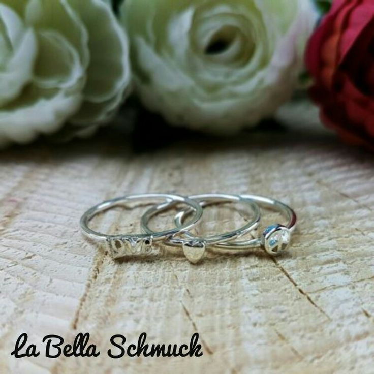 Love silber set ring  http://www.labella-schmuck.ch/produkt-kategorie/ringe/