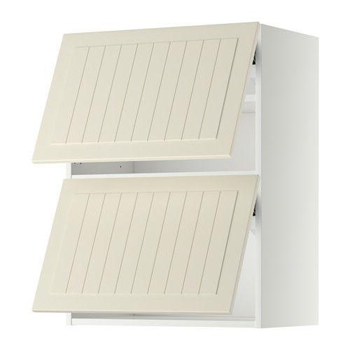 METOD Nást. horizont. sk+2 dvířka - bílá, Kroktorp krémová, 60x80 cm, - - IKEA