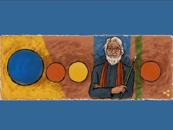 Google honours M.F. Husain on his 100th birthday