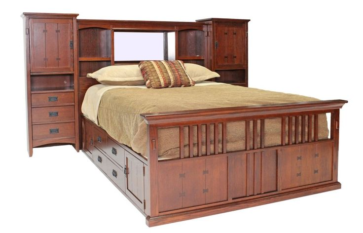 Queen Captains Bed with Storage Ideas