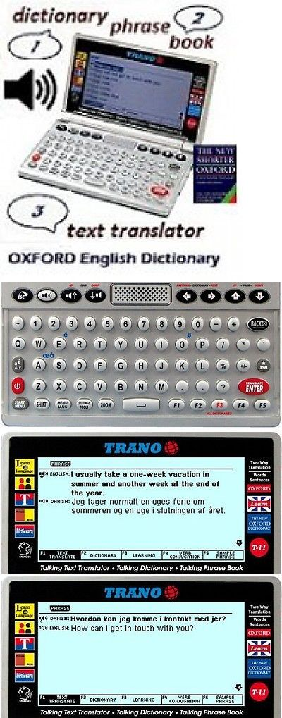 Dictionaries and Translators: Trano T-33 Danish English Electronic Dictionary Talking Text Translator. BUY IT NOW ONLY: $252.91