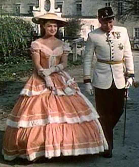 Romy Schneider as Sissi (1, 1955) with Karl-Ludwig in Bad Ischl.