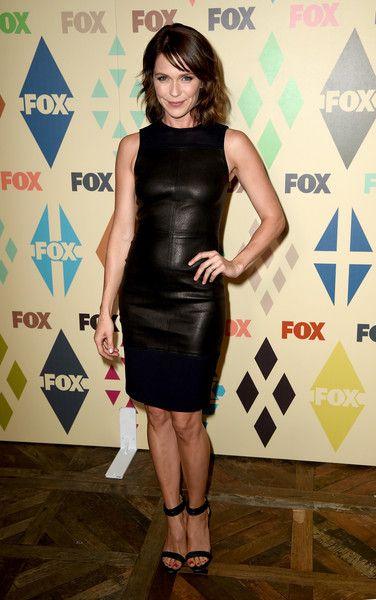 Katie Aselton's slinky black dress