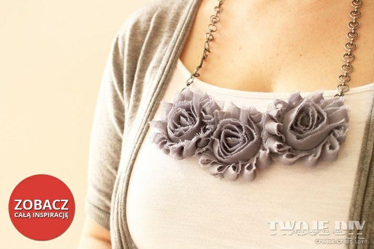 Naszyjnik z tkaniny -  zobacz jak go zrobić