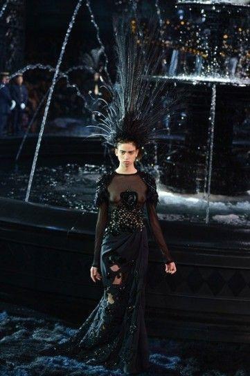 Vestito nero con inserti Louis Vuitton