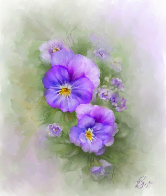 Цветочные картины Bonnie Willis
