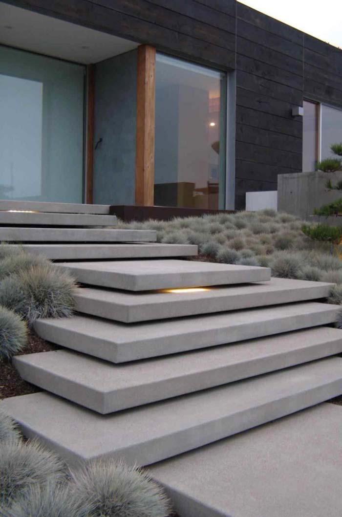 Escada de concreto: veja projetos, como construir e quanto custa # Konstrukti …   – Landschaftsbau