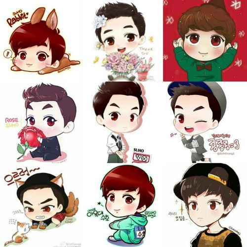 Cartoon Characters With 5 Letters In Their Name : Best images about exo on pinterest chibi suho and