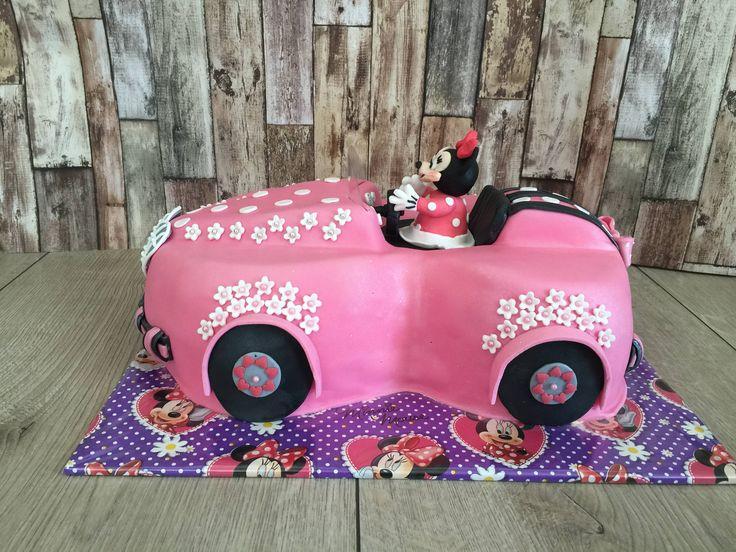 Minnie mouese auto taart