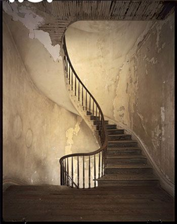 "Staircase, Belle Helene Plantation, Richard Sexton. ""...architectural ruins can possess a disturbing vulnerability."""