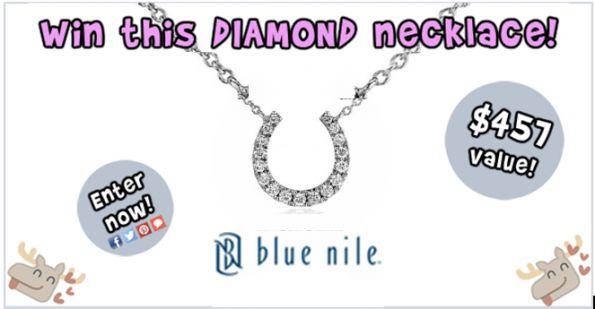 Bargainmoose Contest: Win a Mini Horseshoe Diamond Necklace From Blue Nile! @bargainmoose