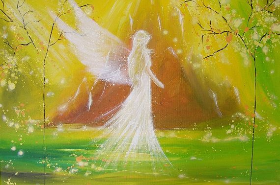 Limited angel art photo at your side modern angel by HenriettesART