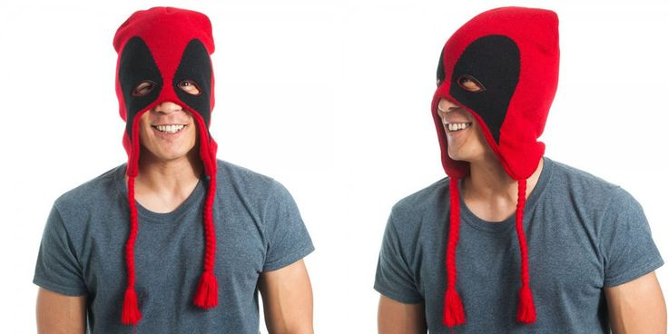New Marvel Comics Deadpool Mask Red/Black HAT Beanie CAP Knit Winter HAT Beanie #Deadpool #Beanie #Laplander