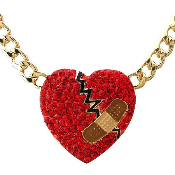 Crystal pave mended heart pendant cuban curb chain necklace Valentines... ($15) ❤ liked on Polyvore featuring jewelry, necklaces, crystal heart necklace, crystal pendant, pendant necklaces, heart shaped necklace and red necklace