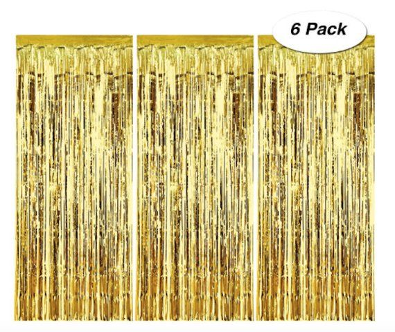 6 Gold Fringe Curtain Backdrop Photo Booth Curtain Party Birthday