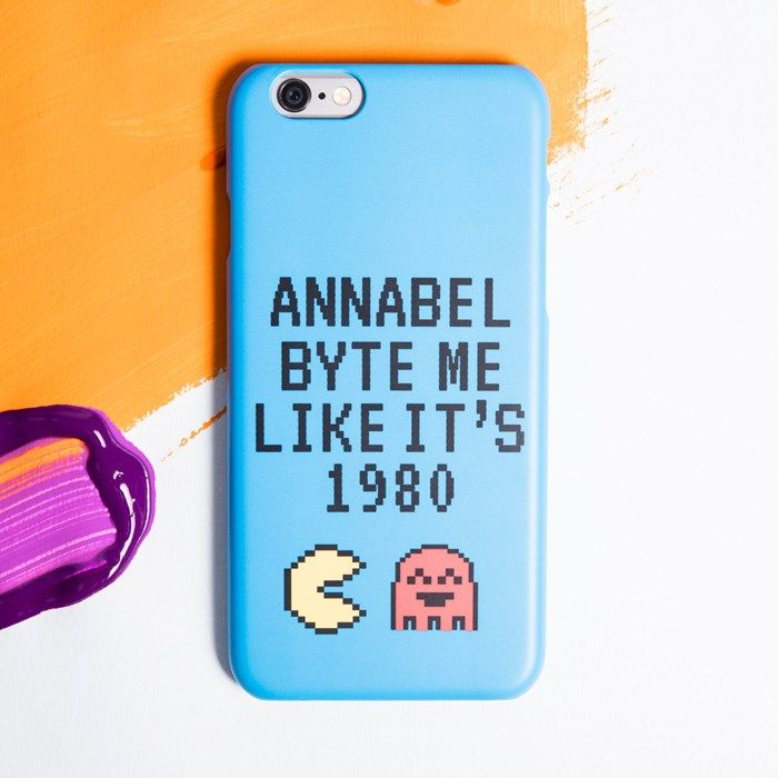 Personalised iPhone Plus Snap Cover - Byte Me | GettingPersonal.co.uk