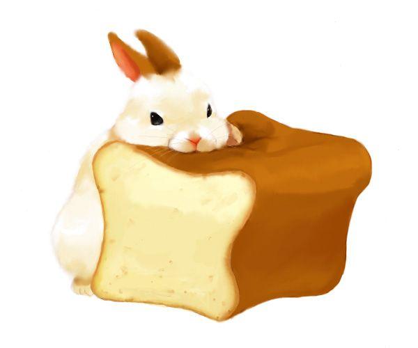 bunny art たべあきたら、枕にします