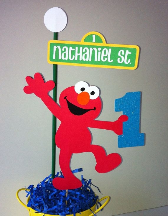 Sesame Street Centerpiece Toppers 1 set by Getcreativewithkay, $14.00