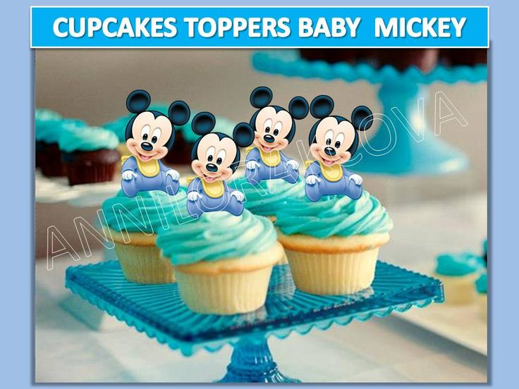 Baby Mickey mouse cupcake topper, mickey mouse Cupcake Topper, baby mickey Cake Pop Topper, digital file, Circle Favor Tags You Print 50%OFF by ANNILORACK on Etsy