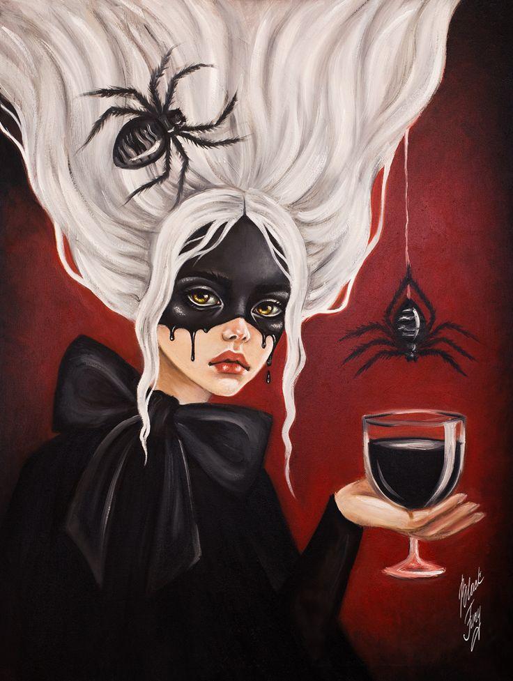 "lilygoat: ..""Black Widow""… By..blackfurya.deviantart.com"