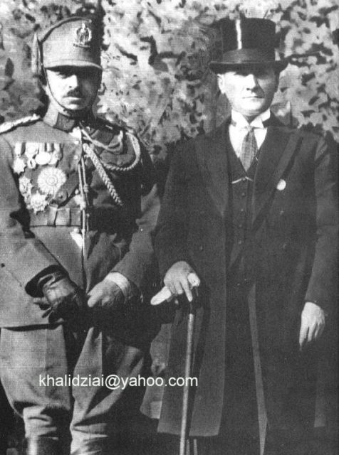 King Amanullah Khan with the President of Turkey Ataturk.