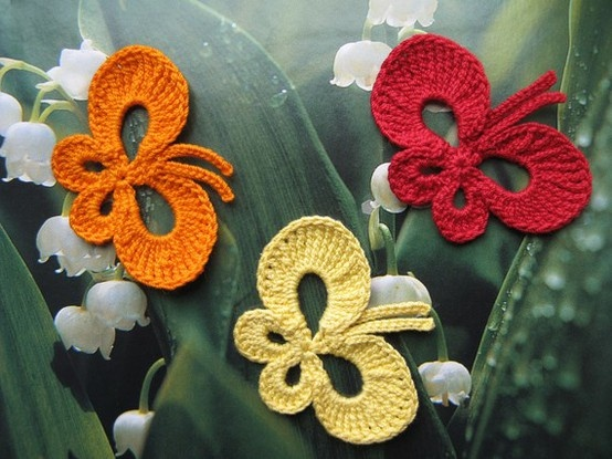 crochet butterflies crochet Pinterest