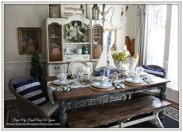 From My Front Porch To Yours. Nautical Dining RoomsFrench ...
