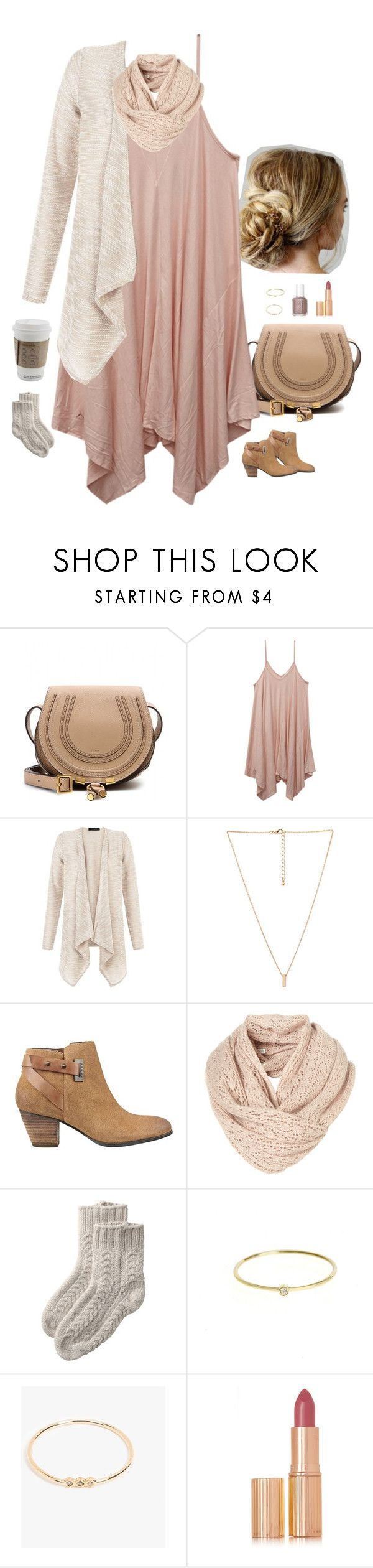 """Untitled #3322"" by somethinglikelove ❤ liked on Polyvore featuring Chloé, Wet Seal, Love 21, GUESS, Toast, Jennifer Meyer Jewelry, Jennie Kwon, Essie and Charlotte Tilbury"