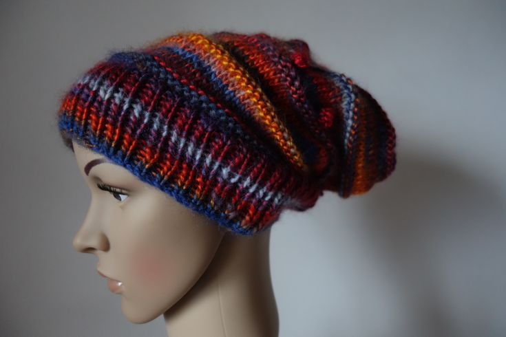 Quirky slouchy hat available in my etsy shop: molettosquirkyknits