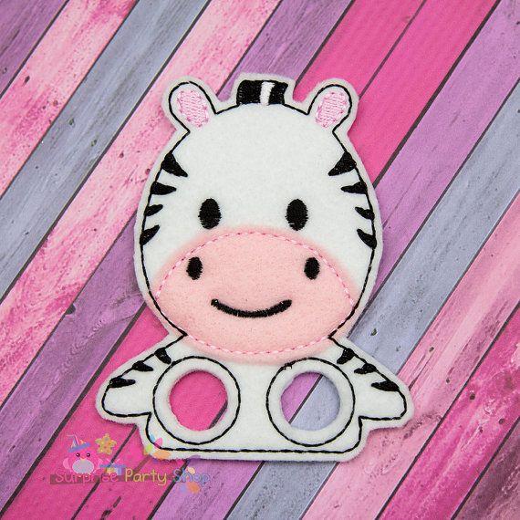 Zebra Finger Puppet Imaginative Play Baby by SurprisePartyShop