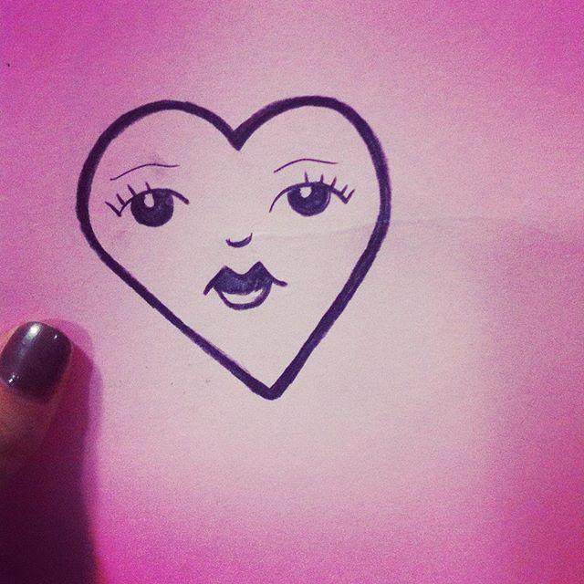 imaginando oq o padre fabio de melo diria desse desenho... #draw  #heart #pink #inspiration #6b #art #faceheart #cute
