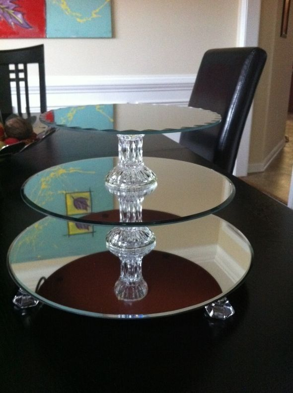 Th Anniversary Cakes On Tiered Acrylic Cake Stands