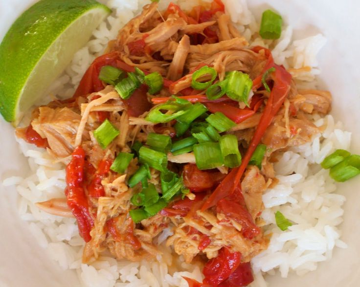 PrepAhead and Dine In: Thai Pork with Peanut Sauce (slow cooker) - subbing teriyaki with homemade, LC teriyaki sauce