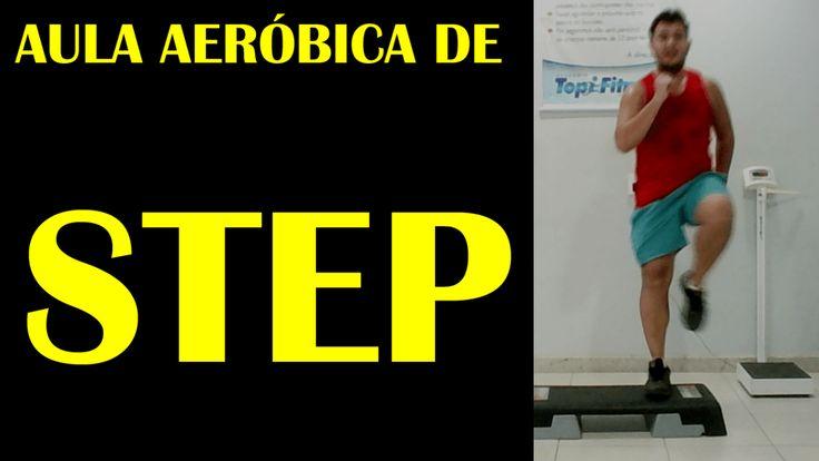 Aula Aeróbica de Step #3 - Para Fazer em Casa e Derreter Gordura Abdominal - Iniciante