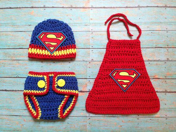 Neugeborene Superman Outfit von BySherylsCrochet auf Etsy