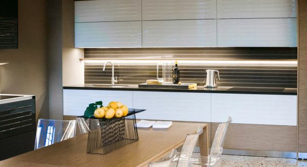 2014 Kitchen Trend Spotting with Susan Serra - Splashbacks are now an architectural feature. Tiles are larger and in quiet tones.