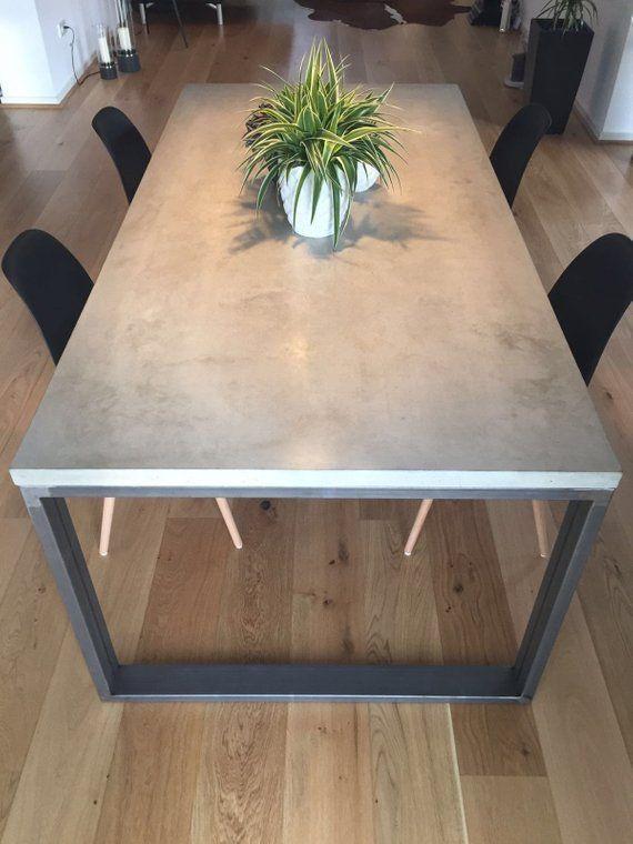 Dining Table Concrete 180 Cm X 90 Cm X 76 Cm Esstisch
