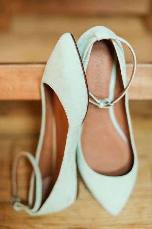 Mint Flats with Straps