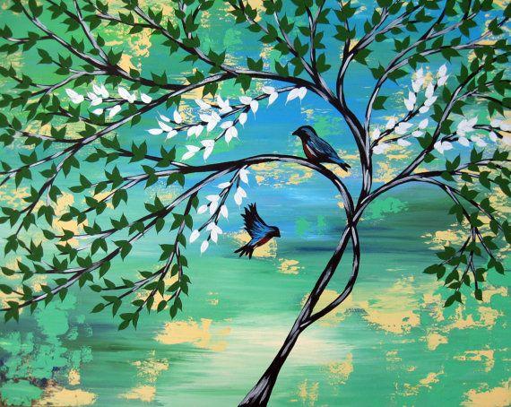 bonsai painting green tree of life painting painting by SheerJoy