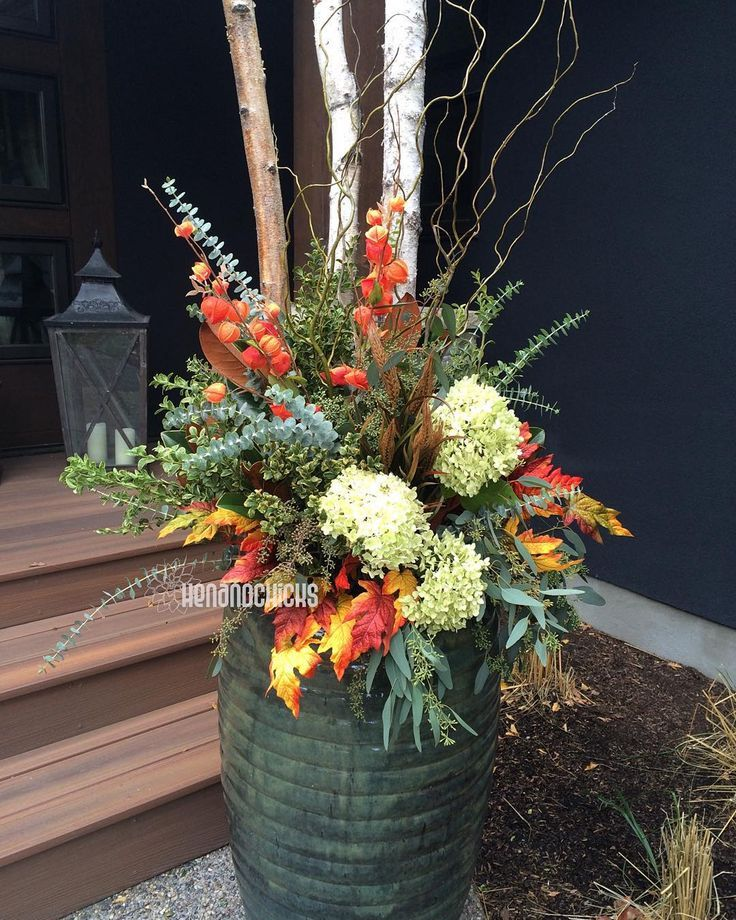 740 best images about halloween fall planters on pinterest - Potted autumn flowers ...