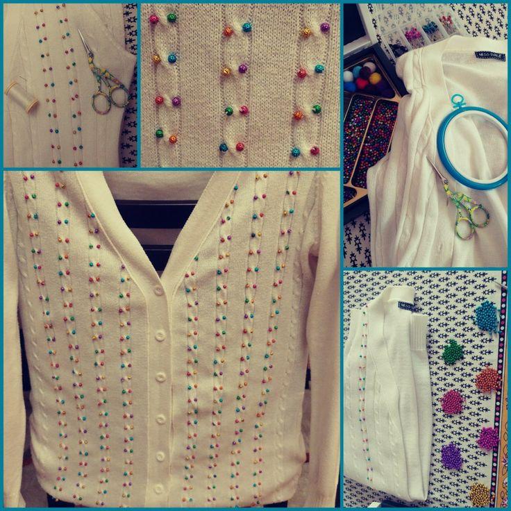 Ben yaptım, kendin yap, diy, do it yourself, diy project, handmade, el yapımı, el emeği, handcraft, embroidered, clothes embroidery, incik boncuk, boncuk süsleme
