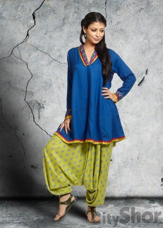 Anokhi – Blue Green Suit