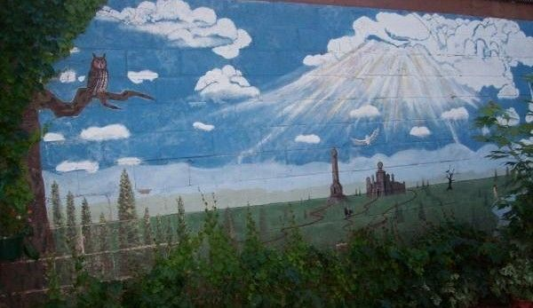 Mural...another place, another time.