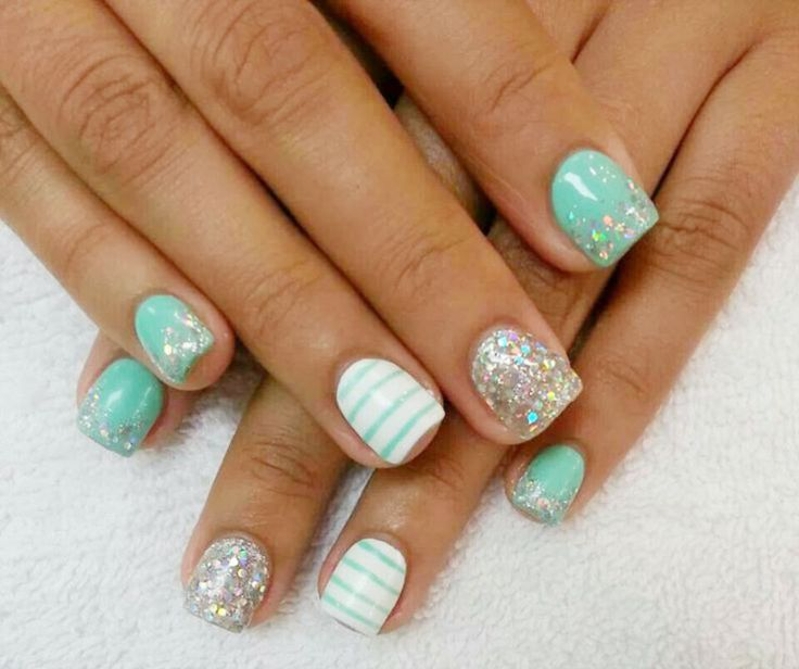 Tiffany Blue Gel Nail Polish: 25+ Best Ideas About Tiffany Blue Nails On Pinterest