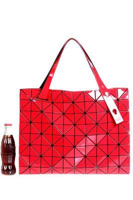 BAO BAO - Issey Miyake | rectangle shopper bag of medium dimensions made of triangular polished PVC plates repeated through an origami calculation on a nylon net base | #baobao