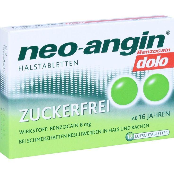 NEO ANGIN Benzocain dolo Halstabletten zuckerfrei:   Packungsinhalt: 12 St Lutschtabletten PZN: 10994823 Hersteller: MCM KLOSTERFRAU…