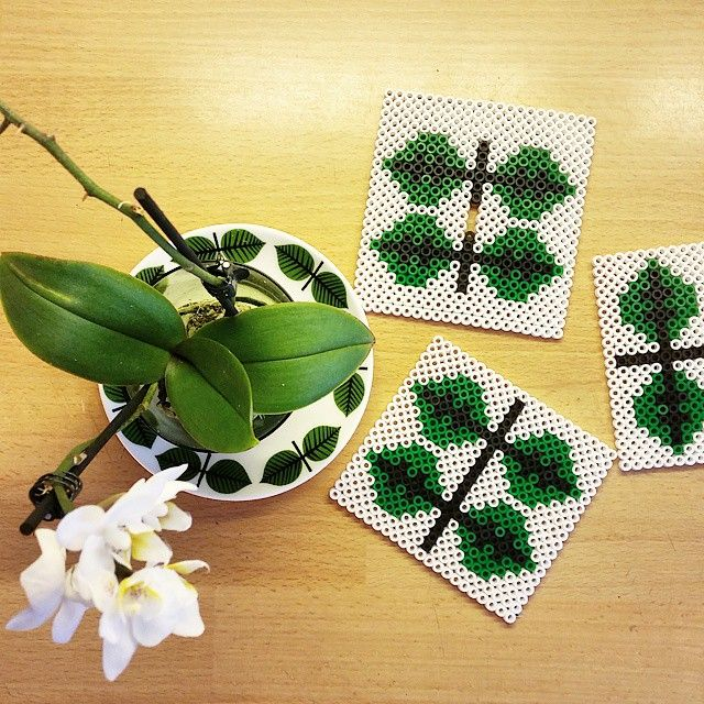 Coaster set hama beads by husochbus